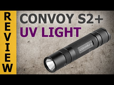 Convoy S2+ Nichia UV Flashlight (365 nm Ultraviolet Light)