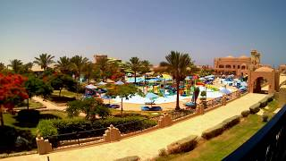 EGYPT 2018, View from the room to the Aquapark, timelapse. HOTEL CLUB CALIMERA AKASSIA SWISS RESORT