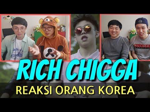 REAKSI REMAJA KOREA MENONTON RICH CHIGGA(DAT STICK)