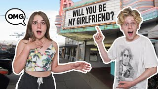 ASKING My CRUSH to be My GIRLFRIEND On Camera **ROMANTIC PROPOSAL**❤️| Lev Cameron