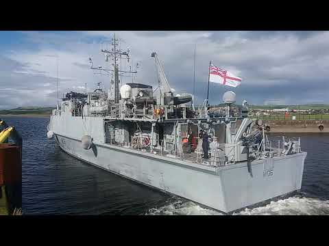 NAVY BOAT LEAVING ARDROSSAN HARBOUR AUG 31 2017