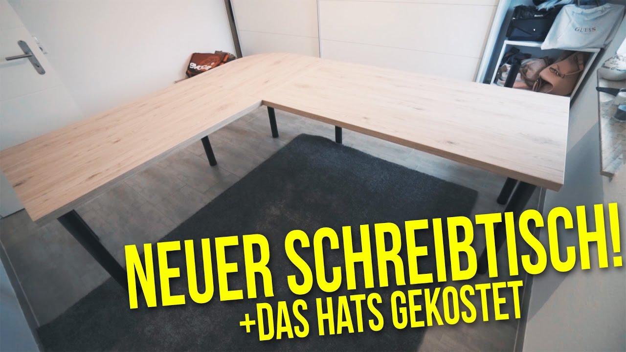 Eckschreibtisch selber bauen  Schreibtisch selber bauen + das hats gekostet | Projekt DIY Büro ...