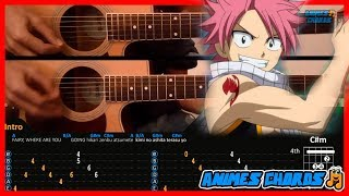 Fairy Tail OP 1 - Snow Fairy | Acoustic Guitar Lesson [Tutorial + TAB + CHORDS]