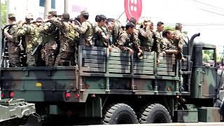 Desfile militar Avenida Roosevelt San Miguel 15 septiembre 2017. Videos de El Salvador