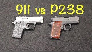 Springfield 911 vs Sig P238 .380