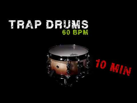 FREE DRUMS LOOP - TRAP STYLE - 60 BPM