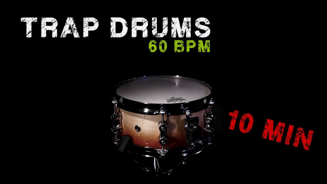 FREE DRUMS LOOP - TRAP STYLE - 60 BPM