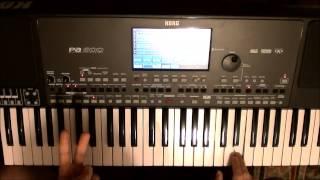 تعليم عزف الكوردات: الدرس الثاني. كوردات مقام عجم (المايجر سكايل) من مفتاح الدو