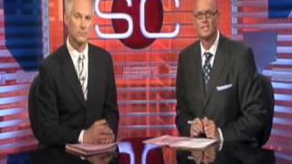 Disaster on ESPN's Sportscenter Set