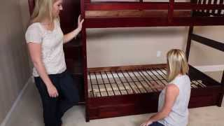 How To Build A Mission Staircase Bunk Bed From Factorybunkbeds.com