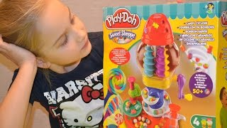 Плей до пластилин. Фабрика конфет Play doh videos Sweet Shoppe Candy Cyclone. Лепим из playdoh.