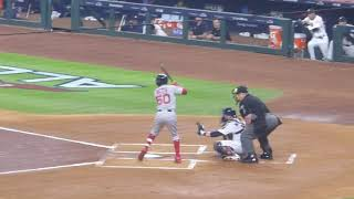2018 AL MVP Mookie Betts at bat (base hit)...ALCS Game 3...Red Sox vs. Astros...10/16/18