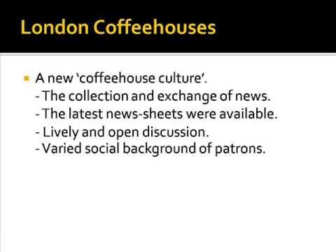 London Coffehouses and Habermas's 'Public Sphere'
