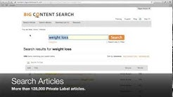Search Articles and eBooks - Big Content Search