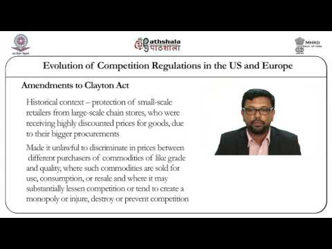 Evolution of competition regulations in the US and Europe (LAW)