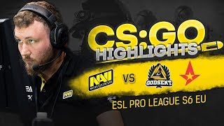 CSGO Highlights: NAVI vs GODSENT, Astralis @ ESL Pro League S6 EU