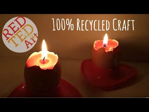How to Make Egg Shell DIY Candles - Cool Craft Idea