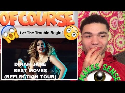 "DINAH JANE (Omfg! YOU GUYS SET ME UP!!) ""Reflection Tour Best Moves"" REACTION !!"