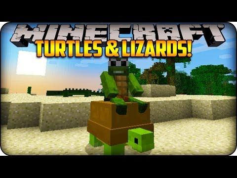 Minecraft Mods - LITTLE LIZARD & TINY TURTLE - Reptile Mod