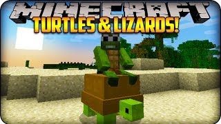 Minecraft Mods - LITTLE LIZARD & TINY TURTLE - Reptile Mod