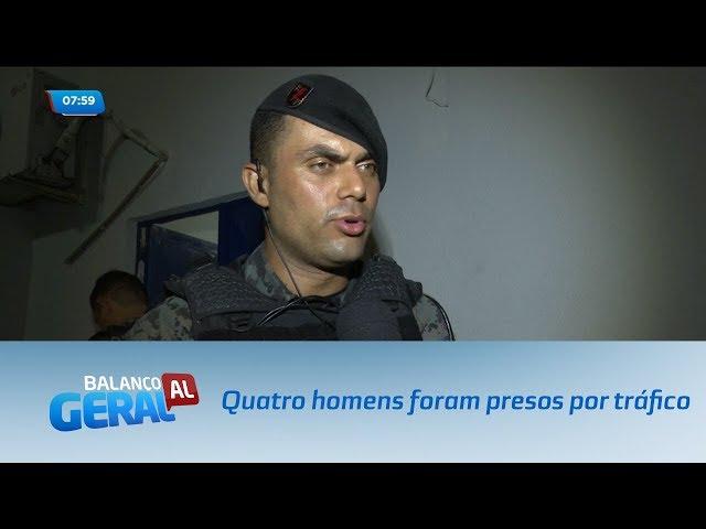 Quatro homens foram presos suspeitos de tráfico de drogas no Ouro Preto
