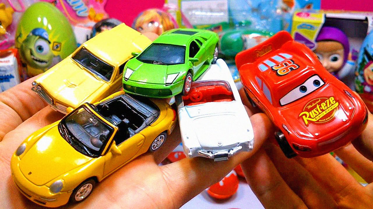 Тачки 2 Киндер Сюрприз и Машинки Cars 2 Toys Surprise Egg