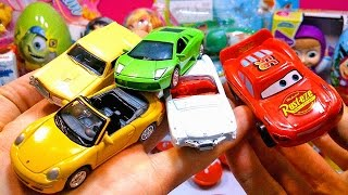 Тачки 2 Киндер Сюрприз и Машинки Cars 2 Toys Surprise Egg