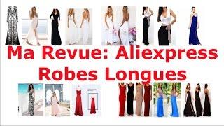 revue aliexpress: robes longues