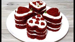 #Торт КРАСНЫЙ БАРХАТ Самые Вкусные Мини Тортики Красный Бархат ко Дню Святого Валентина  #Рецепт
