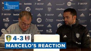 Marcelo Bielsa reaction | Leeds United 4-3 Fulham | Premier League