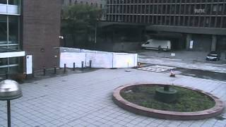 CCTV video of Breivik bomb
