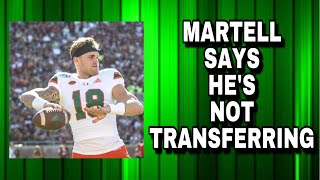 Tate Martell Says He's Not Transferring
