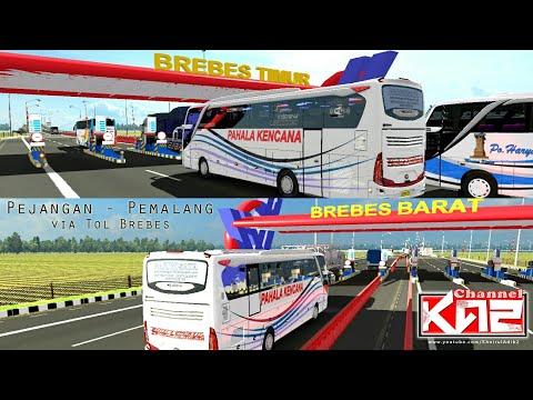 Tes New Armada Melewati Tol Brebes Timur -- ets2 busmod indonesia - 동영상