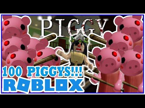 🐷🐷 PIGGY 100 PLAYERS En Roblox 🐷😱