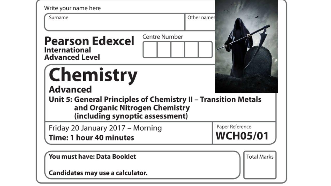 Edexcel a2 ial chemistry unit 5 question paper january 2017 edexcel a2 ial chemistry unit 5 question paper january 2017 question 1 solution urtaz Image collections