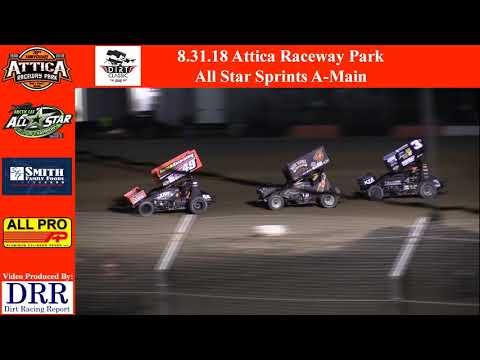8.31.18 Attica Raceway Park All Star Sprints A-Main