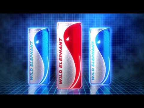 Packaging Design for Wild Elephant Energy Drink, Sri Lanka