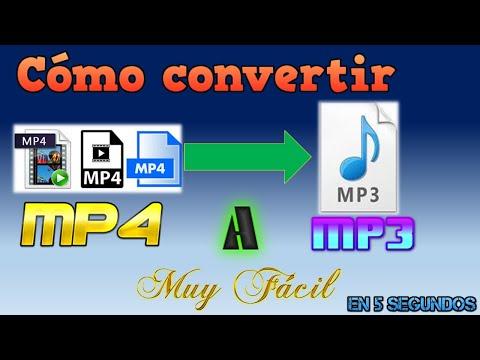 Cómo convertir MP4 A MP3 al instante.