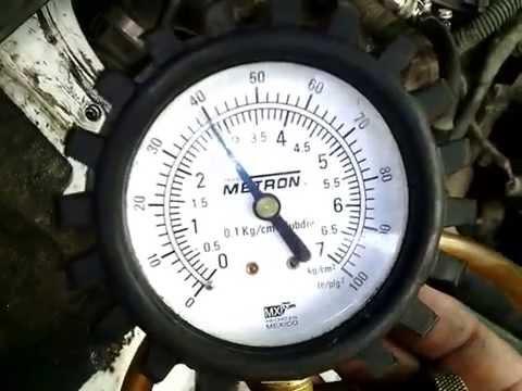 Presion de bomba de gasolina