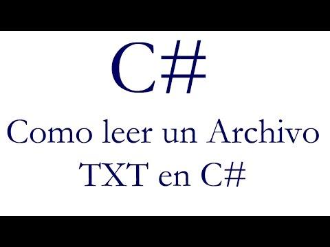 Como leer un archivo TXT en C#