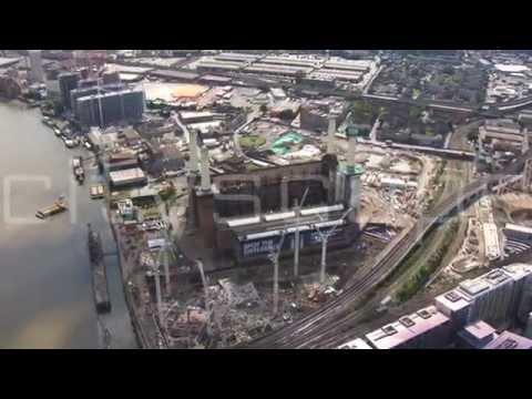 Battersea Power Station .Summer 2014. London Aerial HD footage