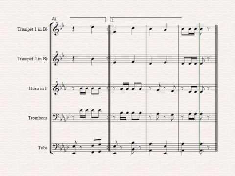 German Oktoberfest - 10 Famous German Songs  - Brass Quintet