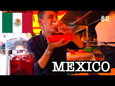 Trying Mexican Food in Mexico City for $2 🇲🇽