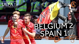 U17 quarter-final highlights: Belgium v Spain