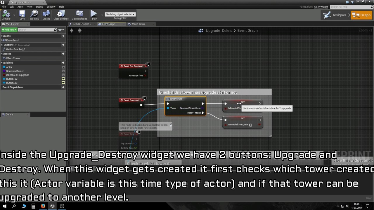 [OLD] UE4 Tower Defense tutorial PART 2: Upgrading and placing towers,  enemy waves