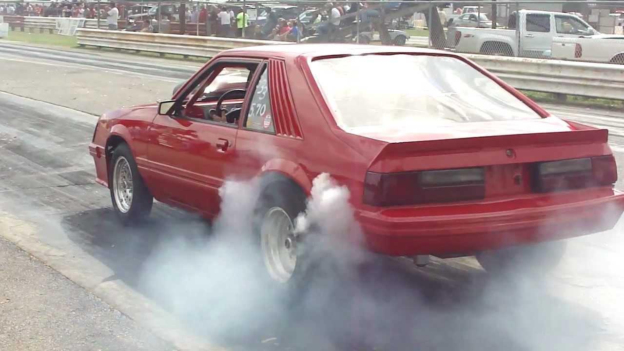 Mustang 5 0 Fox Body Burnout Open Headers Crazy Quick