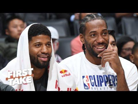 LeBron-Anthony Davis or Kawhi-Paul George? First Take debates the best duo in the NBA