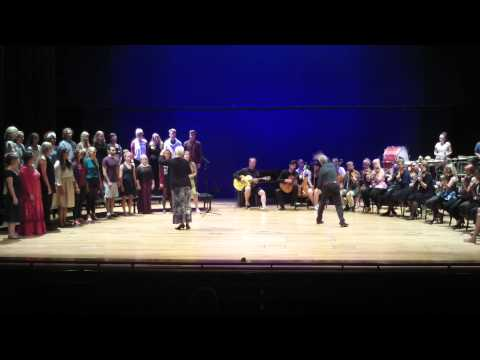 Improchoir & -orchestra in Metropolia University, Helsinki, 21.08.2015