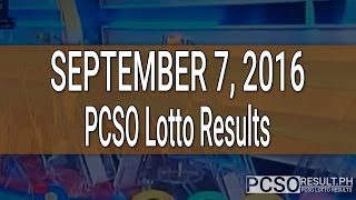 PCSO Lotto Results September 7, 2016 (6/55, 6/45, 4D, Swertres & EZ2)