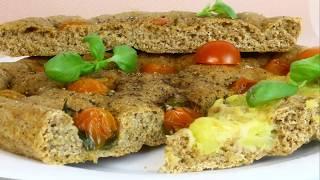 ФОКАЧЧА с двумя начинками. Итальянский хлеб